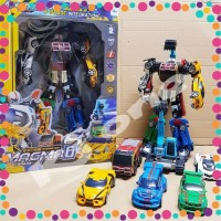 Mainan anak robot magma 6 6in1