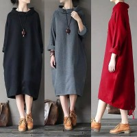Long Dress Maxi Gaya Boho Retro Vintage Casual