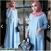 Pakaian Baju Busana Muslim Wanita BONITA Dress Gamis Termurah Terbaru