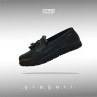 GREGORY BLACK LOAFERS - FULL BLACK