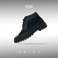 BARNY BLACK LONGWING BOOTS SHOES