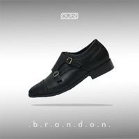 BRANDON DOUBLE MONKSTRAP SHOE - BLACK