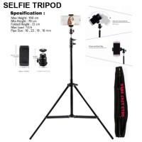 Selfie Tripod For Online Vlog Portable Plus Bag Light Stand Narsis