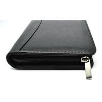 Buku Catatan Binder Note Cover Kulit with Kalkulator - Hitam