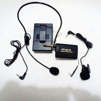 mic jepit wireless aiwa clip on microphone wireless
