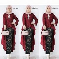 agn kutubaru jawis Batik kebaya rok setelan pakaian muslim wanita