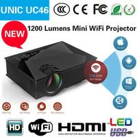 Unic Projector Proyektor UC46 UC 46 Wifi 1200 Lumens Mini Portable FHD