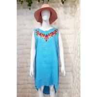 Dress Wanita Santai Linen Premium Bordir Favorite TM-DR-BR-13