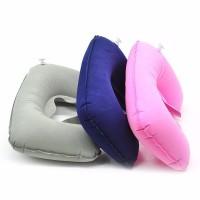( New Trend ) Bantal Leher Tiup Bentuk U untuk Travel Kantor