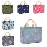 ( New Trend ) Flamingo insulation bag student handbag lunch bag multi