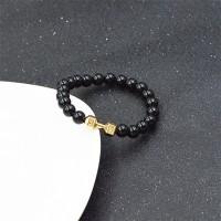 ( New Trend ) Handmade folk style black diamond elastic beaded dumbbe