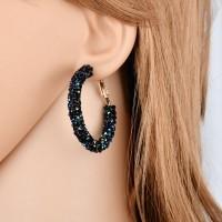 ( New Trend ) Hoyou Fashionable Personality Wild Alloy Diamond Earrin