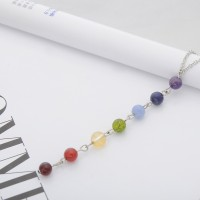 ( New Trend ) Kalung Manik manik Kristal Chakra Warna Warni untuk Yog
