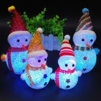 ( New Trend ) Lampu LED Menyala Desain Snowman untuk Dekorasi Natal