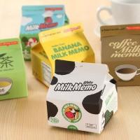 ( New Trend ) Memo Post It Bentuk Kotak Susu untuk Susu Kopi