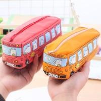 ( New Trend ) Large capacity car pencil case bag Creative canvas Prin
