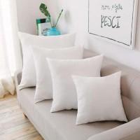 ( New Trend ) Sarung Bantal Sofa dengan Bahan Katun Linen dan Gambar