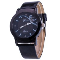 ( New Trend ) Jam Tangan Quartz Elegan dengan Strap Kulit