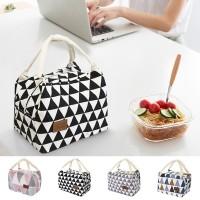 ( New Trend ) Tas Insulasi Panas Portable Bahan Katun Linen