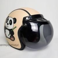 Helm Bogo Kulit model Panda