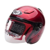 Helm KYT DJ solid Red Maroon