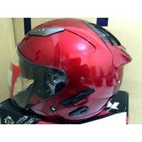 Helm KYT half face Galaxy red Maroon