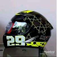 Helm KYT Vendetta 2 Moto GP Andrea Lanone 29 black Gunmetal