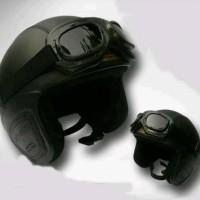 Helm Bogo model retro kacamata