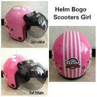 Helm Bogo Pink model scooters