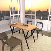 meja tamu meja makan meja cafe meja minimalis meja industrial