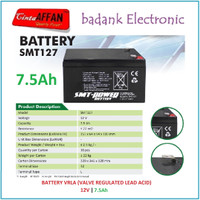 Battery VRLA 12V 7Ah 7.5Ah Solar Panel Surya Baterai Aki Lead Acid