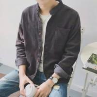 Kemeja Jaket Pria Corduroy Japanese Retro Long Sleeved IMPOR