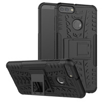Luxury case HUAWEI Y6 2018 case armor casing armor case rugged stand