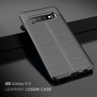 Auto Focus Leather Soft Case Samsung Galaxy S10 S10e Plus Note 4 5 8 9 - Hitam, Samsung S10