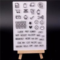 Transparent Silicone rubber Clear Stamp 16-cards, art craft, scrapbook