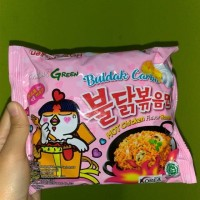 Samyang Green Buldak Carbo Hot Chicken Falvor Ramen ( Bungkus Pink )