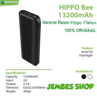 Hippo Powerbank Bee 13200mAh Garansi Resmi Hippo 1Tahun 100% ORiGINAL