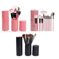 Kuas MakeUp Make Up Brush Set 12 in 1 Bonus Case Tabung 1 set isi 12