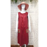 Dress Casual Linen Premium Bordir Kantong Depan Best Seller TM-DR-17