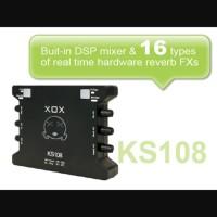 SOUND CARD EKSTERNAL XOX KS108 KARAOKE RECORDING RECORD AUDIO MIC MIKE