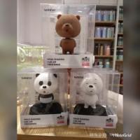 Miniso japan we bare bears head shaking car air freshner parfum mobil