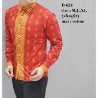 Baju Kemeja Batik Pria Distro Baju Lengan Panjang Hem Couple