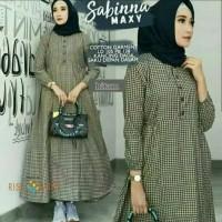 Pakaian Baju Busana Muslim Wanita Maxi SABINNA Dress Gamis Terbaru