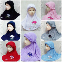 Jilbab anak vania Nayra hijab anak 2-5 th kerudung anak balita kaos