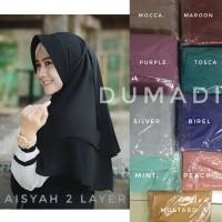 jilbab/hijab instan aisyah 2 layer / bergo rubiah bergo aisyah