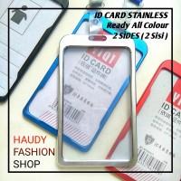 ID CARD HOLDER / ID CARD STAINLESS TANPA TALI