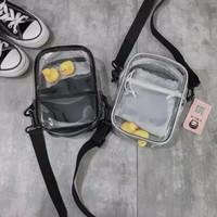 TAS SELEMPANG SLINGBAG CLUTCH POUCH BENING TRANSPARAN PLASTIK KOREA