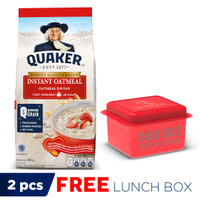 Quaker Instant Oatmeal 800 Gr - FREE Quaker Lunch Box