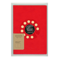 DAYCRAFT - SKETCHBOOK SIGNATURE RETRO: ROTARY (RED) A5