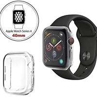 Soft Case Apple Watch 4 40mm Case Full Layar Protector Bening